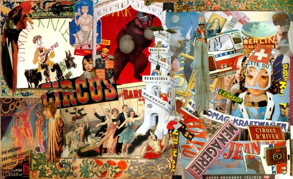 collage,circus,contemporary